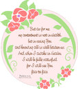 But as for me decorative floral circle containing ps bible verse Royalty Free Stock Images