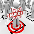 As melhores palavras de person worker org chart d do empregado nunca Fotografia de Stock Royalty Free