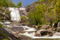 As Mestas waterfall in Melon, Ourense, Spain Royalty Free Stock Photos