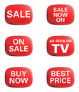 As seen on TV, Sale. Advertising icon set Royalty Free Stock Photos