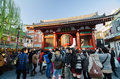 Asakusa japan nov sensoji temple the temple is appr very popular approached via nakamise shopping street providing Royalty Free Stock Image