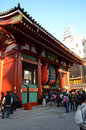Asakusa japan nov sensoji temple is very popular tem the approached via the nakamise shopping street providing Royalty Free Stock Image