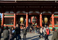 Asakusa japan nov sensoji temple is very popular tem the approached via the nakamise shopping street providing Royalty Free Stock Photo