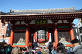 Asakusa japan nov sensoji temple is very popular temple the approached via the nakamise shopping street providing Stock Image