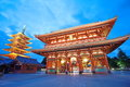 Asakusa temple at tokyo japan senso ji also known as kannon is the most important of tokyos buddhist temples Stock Photo