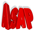 Asap as soon as possible Royalty Free Stock Photography