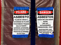 Asbestos Abatement Signs Royalty Free Stock Photos