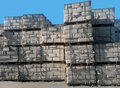 Asbestos packages storage Royalty Free Stock Photo