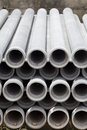 Asbestos pipes for drain Royalty Free Stock Photo