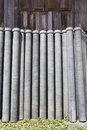 Asbestos pipes for drain in warehouse Stock Photo