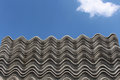 Asbestos roof Royalty Free Stock Images