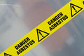 Asbestos warning sign Royalty Free Stock Photo