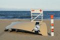 Asbury Park Beach Patrol Lifeguard Stand and Boat Royalty Free Stock Photo