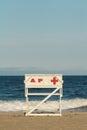 Asbury Park New Jersey Lifeguard Chair Royalty Free Stock Photo