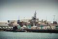 Asc air warfare destroyer adelaide south australia january australian submarine corporation hmas hobart in the construction dock Stock Image