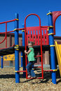 Ascending Playground Ladder Royalty Free Stock Photos