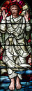 The ascension of Jesus Christ in stained glass Royalty Free Stock Photo