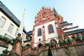 Aschaffenburg catholic church facade Royalty Free Stock Images
