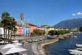 Ascona switzerland the beautiful resort of on lake maggiore in the canton of ticino during daytime Royalty Free Stock Images