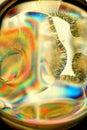 Ascorbic acid molten and crystallized Royalty Free Stock Photo