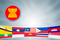 Asean economic community or aec Stock Photo
