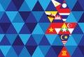 Asean economic community aec background Royalty Free Stock Photo