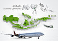 Asean economic community aec concept Stock Photography