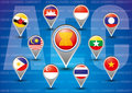 Asean economic community aec concept Royalty Free Stock Photography