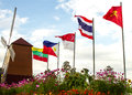 Asean ten countries prepare to step into Royalty Free Stock Image