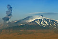 Ash eruption at the Etna Vulcano Royalty Free Stock Photo