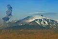 Ash eruption at the Etna Vulcano Royalty Free Stock Photo