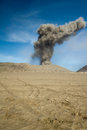 Ash volcano of mountain bromo Stock Photography