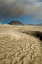 Ash volcano of mountain bromo Royalty Free Stock Photo