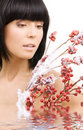 Ashberry woman Royalty Free Stock Photo