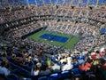 Ashe stadium us open tennis a crowded arthur for a u s match nishikori vs wawrinki Stock Photography