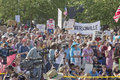 Asheville moral monday political rally north carolina usa august against north carolina gop politics and legislation on august in Stock Image