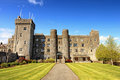 Ashford castle and gardens - Ireland. Royalty Free Stock Images