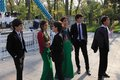 Ashgabad, Turkmenistan - October 10, 2014. Group of pupils in