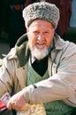 Ashgabat, Turkmenistan - February 26.  Portrait of Turkmen man i Royalty Free Stock Photo