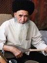 Ashgabat, Turkmenistan - March 09.  Portrait of Turkmen man in t Royalty Free Stock Photo