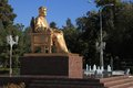 Ashgabat, Turkmenistan - October 23, 2014. Monument to the first Royalty Free Stock Photo