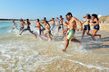 Ashkelon israel isr june israeli high school graduates runs to the sea on june according to the oecd the percentage of high school Stock Image
