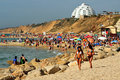 Ashkelon israel isr may visitors in shimshon beach on may it s southernmost city on the israeli mediterranean shoreline with km of Royalty Free Stock Image