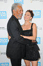 Ashley judd morgan freeman and at the usa today hollywood hero gala honoring montage hotel beverly hills ca Royalty Free Stock Photography