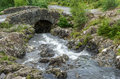 Ashness bridge lake district england august ashness brid near keswick in the on Stock Photography