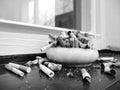 Ashtray full of cigarettes Royalty Free Stock Photo