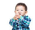 Asia baby boy clapping hand isolated on white Royalty Free Stock Photos