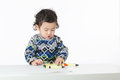 Asia baby boy concentrate on drawing Royalty Free Stock Photos