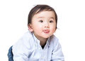 Asia baby boy making funny face Royalty Free Stock Photo
