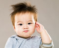 Asia baby salute Royalty Free Stock Photo